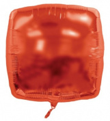 Balloons And Weights 873 60cm . Square Foil Mylar Balloons - Red 50 Pieces