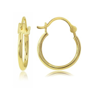 Lion Jewellers HSG13995-12 14K Gold 1.3 mm. Round Hoop Earring