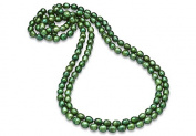 Fine Jewellery Vault UBNKBK7045FWGR 80 in. Strand Necklace of Green Freshwater Cultured Pearl 8.5 mm.