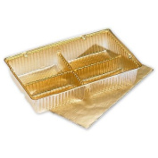 Deluxe Small Business Sales M1919 4.5 x 7cm x 2.2cm . Ballotin Tray Gold