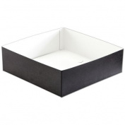 Deluxe Small Business Sales H103-2094 10 x 25cm x 7.6cm . Swirl Hi-Wall Gift Box Bottom Black