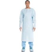 Halyard Health 69600 Universal Size Impervious Comfort Gown Blue - 10 Per Pack