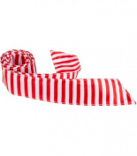 Matching Tie Guy 5369 XR20 HT - 110cm . Child Matching Hair Tie - Red & White Stripes