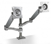 Systematix 7920H Deluxe Dual-Screen Double Extension Dual Height Monitor Arm