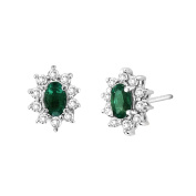 Luis Creations EA102ED 0.70 Ct. Diamond And Emerald Earring In 14K Gold