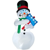 1.8m Animated Airblown Inflatable Shivering Snowman. Snowman Lights Up, shivers and shakes.