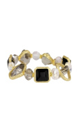 In Things 606434 Matte Gold Stretch Bracelet Black
