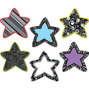 Black And White Stars 15cm Designer Cut Outs