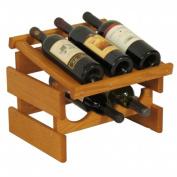 Wooden Mallet WRD31MO 6 Bottle Dakota Wine Rack with Display Top