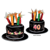 Beistle 60696-40 Plush 40 Over-The-Hill Cake Hat Pack Of 6