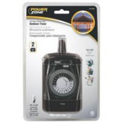Power Zone Timer Outdr 24Hr Hd 2Out Mech TNO24111