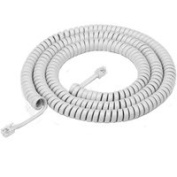 American Tack & Hdwe TH1025W Phone Coil Cord 7.6m - White