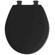 Bemis 46EC047 Toilet Seat Round Wood - Black
