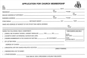 B & H Publishing Group 465256 Form Application For Church Membr No. Acm5