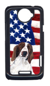 Carolines Treasures SC9024HTCONE USA American Flag With Welsh Springer Spaniel HTC One X Cell Phone Cover