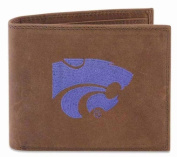 ZeppelinProducts KSU-IWE1-CRZH-LBE Kansas State Passcase Embroidered Leather Wallet