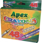 DDI 1277492 Apex Crayon 48 ct with Sharpener Case Of 48