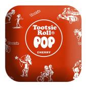Tootsie Roll PIL-TR-RWRAP 36cm . Large Plush Red Tootsie Roll Pop Candy Pillow