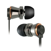 Bello Digital BDH641BCCP In-Ear Stereo Headphones With In-Line Microphone - Black Chrome & Copper