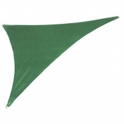 Gale Pacific USA 473969 Coolaroo Coolhaven SHADE SAIL RT TRI 15x12x9 Heritage Green with Fixing Kit
