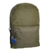 Bulk Buys Classic Backpack 46cm . x 13 in. x 6 in. Olive. - Case of 30