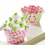 Party Destination 224410 Pink Cowgirl Reversible Cupcake Wrappers