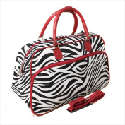 All-Seasons 812014-163-BU 50cm . Zebra Carry-On Shoulder Tote Duffel Bag Red