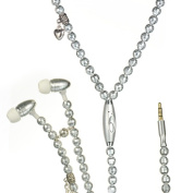 DreamWireless IP-HFIPFS391 Universal Necklace Handsfree 3.5 Mm With Mic Silver Pearl