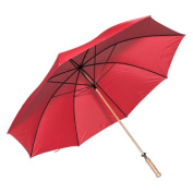 Elite Rain Frankford 2988WS-RD Wooden Shaft Golf Umbrella Red