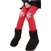 Arrowhunt Baby Girls Warm Cotton Snowflake Leggings Pants with Velvet