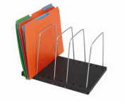 MMF 264404 Adjustable Wire Organiser 4 - Pocket - Black Base with Nickel Finish Dividers