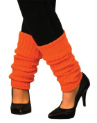 Costumes for all Occasions AA107 Leg Warmers Adult Neon Orange