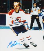 Autograph Authentic flat-8x10-lafleur-white Guy Lafleur Autographed 8X10 Photograph - Montreal Canadiens - White