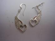 Hotrod Rocks HRR-012E Winged Heart Earrings