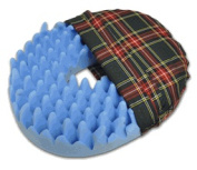 Convoluted Foam Softeze Ring 18. x 15 1/8 Plaid Cover