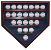 Powers Collectibles 99911310 23 Baseball Homeplate Shaped Custom Display Case UV Glass