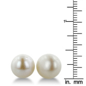 SuperJeweler A00317 Classic 11 - 12Mm Lustrous Natural Freshwater White Semi - Round Pearl Stud Earrings