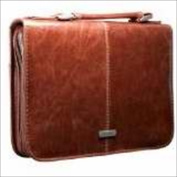 Christian Art Gifts 368249 Bible Cover Classic Luxleather Faith Medium Brown