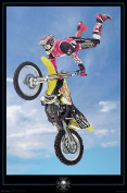 Hot Stuff 2462-24x36-CB Motor Cross Blue Poster