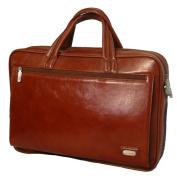 K-Cliffs Full Grain Leather Executive Portfolio 15.5 x 28cm x 7.6cm . Brown