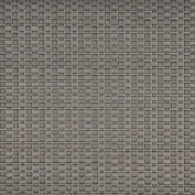 Designer Fabrics G689 140cm . Wide Silver Metallic Thin Basket Woven Upholstery Faux Leather