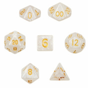 Brybelly GDIC-1116 7 Die Polyhedral Dice Set in Velvet Pouch-Forbidden Treasure
