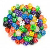 Brybelly GDIC-1004 100+ Pack of Random D10 Polyhedral Dice in Multiple Colours