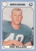 Ken Willard Football Card (North Carolina) 1990 Collegiate Collection No.73