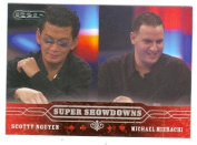 Scotty Nguyen and Michael Mizrachi trading card 2006 Razor Poker No.51
