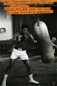 Hot Stuff Enterprise Z139-24x36-NA Muhammad Ali Punching Bag Poster 24 x 36