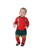 Footysuit FOOTYPT12-18 Portugal Soccer Baby Sleepsuit 12-18 Months
