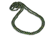 Fine Jewellery Vault UBNKBK7044FWGR 8.5MM Round Green Freshwater Cultured Pearl Strand Necklace 80 in.
