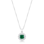 Jgoodin P50163R-C40 Bella Bridal Pendant In Green