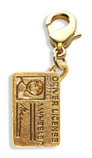 Whimsical Gifts 1789G Drivers Licence Charm Dangle in Gold